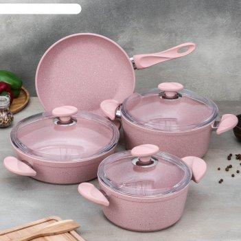 Набор посуды wilma, 4 предмета: кастрюля 2,4 л / 4,2 л, сотейник 3 л (d=26