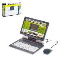 Компьютер обучающий ноутбук, 120 заданий, 2 языка: русский, английский