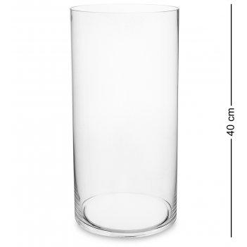 Nm-25889 ваза-цилиндр стеклянная 40 см (неман)