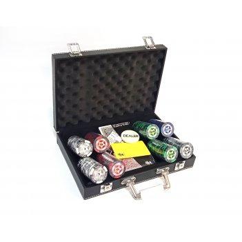 Набор на 200 фишек poker stars в кожаном кейсе