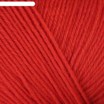 Пряжа детский каприз 50%мериносовая шерсть, 50% фибра 225м/50гр (88-красны