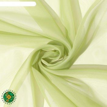 Тюль «этель» 140x250 см, цвет светло-зеленый, вуаль, 100% п/э