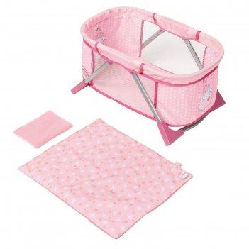 Кроватка для куклы baby annabell мягкая