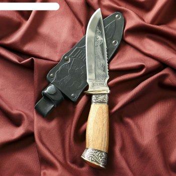 Нож туристический викинг с гардой, сталь 40х13
