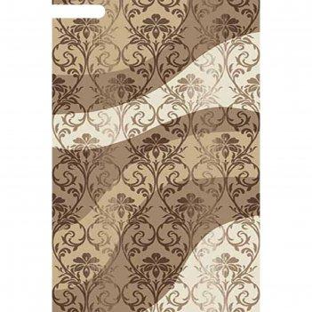 Ковёр карвинг хит-сет mega carving d268, 1*3 м, прямоугольный, beige