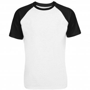 Футболка мужская t-bolka bicolor, белая с черным