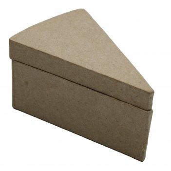 Коробочка в форме кусочка торта из папье-маше, 6 х 9,5 х 4,5 см