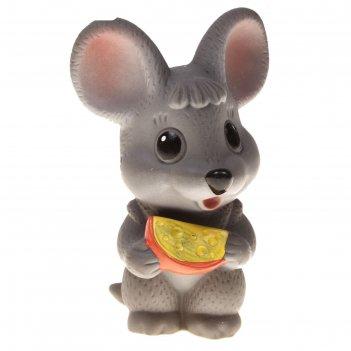 Резиновая игрушка мышонок с сыром