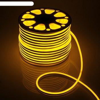 Гибкий неон 8 х 16 мм, 100 метров, led-120-smd2835, 220 v, желтый