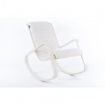 Кресло-качалка арно ткань гардения/каркас бежевый
