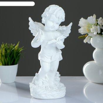 Статуэтка ангел с книгой белый