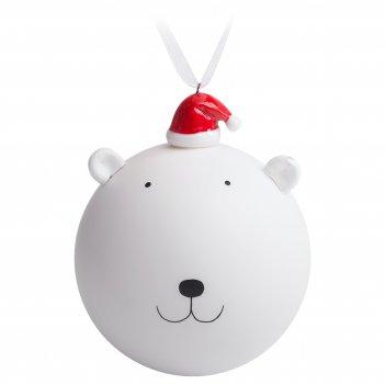 Елочный шар с фигуркой «новогодний мишка», 9 см
