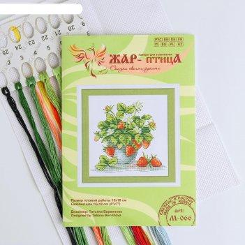 Набор для вышивания «аппетитная клубника» 15x18 см
