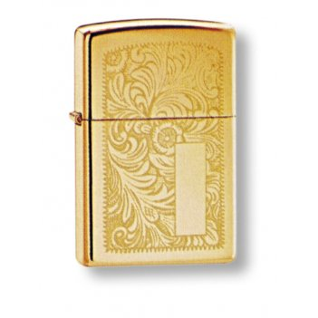 Зажигалка zippo high polish brass, латунь, золотистый, глянц
