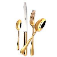 Набор столовых приборов на 6 персон atlantico gold, 24 предмета, материал: