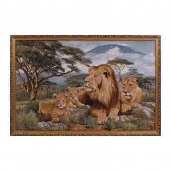 Гобеленовая картина африканские львы 108х70 см