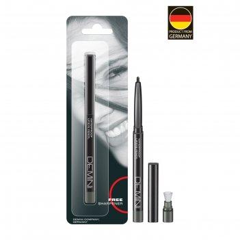 Карандаш для глаз demini, с точилкой, № 022 малахитовый каприз, перламутро