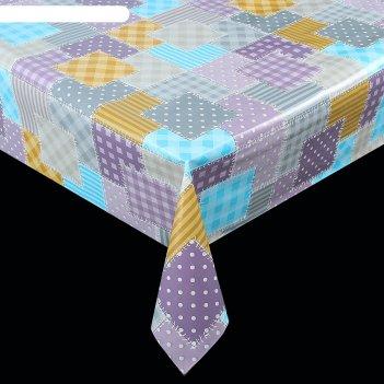 Клеенка столовая на нетканой основе, ширина 137 см, толщина 0,08 мм, рулон