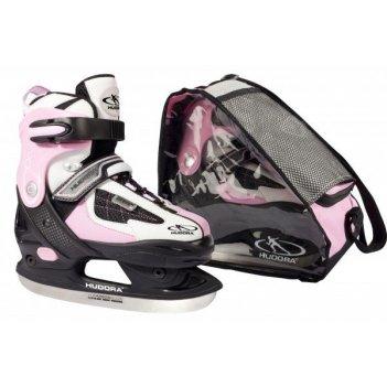 Раздвижные ледовые коньки hudora hd 2010 pink 28-31  (43027)