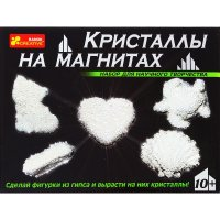 Набор для опытов кристаллы на магнитах белые 12126004
