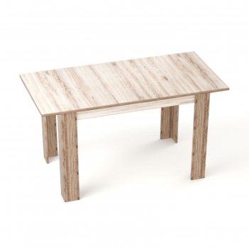 Стол бостон раскладной, 1200(1500)х800 мм, дуб сакраменто светлый/дуб сакр