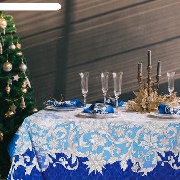 Набор столовый этель зимние узоры, скатерть 110*150 см, салф. 40*40 см-4 ш