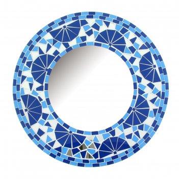 Зеркальное панно голубой круг