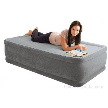 Надувной матрас-кровать intex twin comfort-plush 99х191х46см, встроенный н