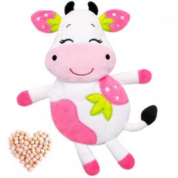 Развивающая игрушка-грелка клубничная корова 647