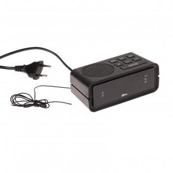 Часы радиобудильник ritmix rrc-606, fm, два будильника, черные