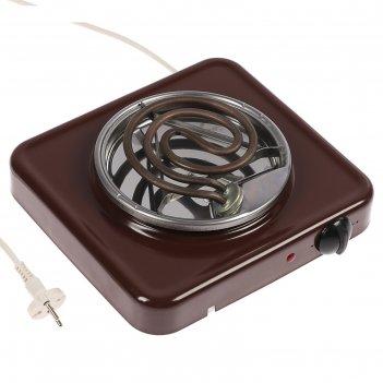 Плитка электрическая пскова-1, 1000 вт, 1 конфорка, коричневая