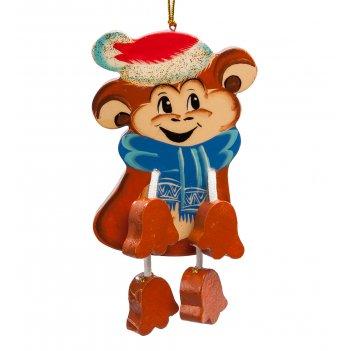 Елочная игрушка обезьянка