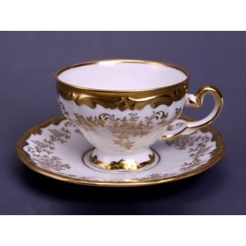 Набор для чая кастэл 202(чашка210мл.+блюдце) на 6перс.12пред.