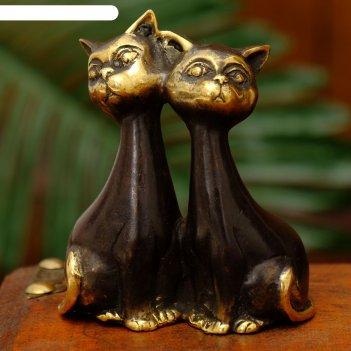 Сувенир бронза сладкая парочка кошек 7,5х3,5х9 см