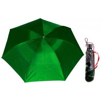 Зонт механический, ветроустойчивый, в футляре, внутри металлик, цвет зелен