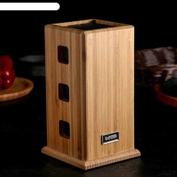 Универсальный блок для ножей esta, бамбук