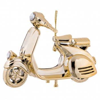 Декоративное изделие скутер 12*6 см высота=9 см. цвет: солнечное золото бе