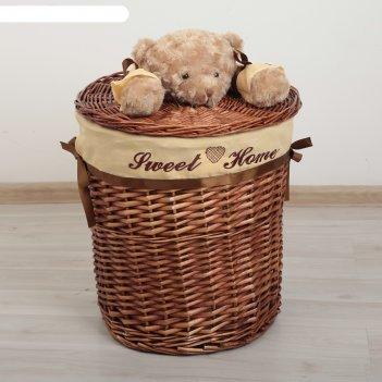 Корзина универсальная, плетёная, круглая медвежонок