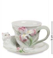 Cms-04/ 2 чайная пара котенок с ирисом (pavone)