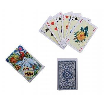 Карты игральные бумажные 54 шт. московский сувенир 57х88 мм