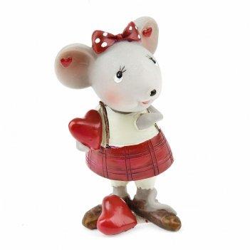 Фигурка декоративная мышка и любовь 6*5*10см. (2вида) (min4) (транспортная