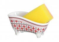 Подставка для губки ванночка в комплекте с губко...код т