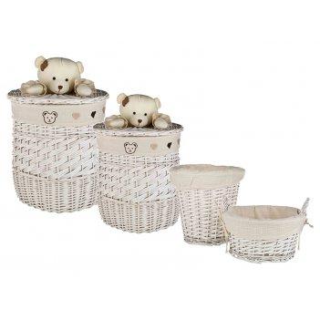 Набор корзин для игрушек круглых из 4 шт.l:ф46*56,...