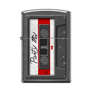 Зажигалка zippo кассета с покрытием iron stone™, латунь/сталь, серая, мато
