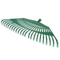 Грабли веерные, 23 зуба, диаметр 24 мм, рабочая часть 55 см пластик, зелен