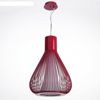 Светильник-подвес «френсис», красный, е27, 1 x 60 вт