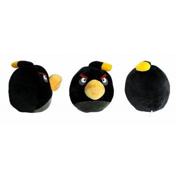 Кав043, angry birds мягкая игрушка, черная птица