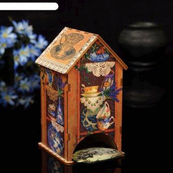 Чайный домик сервант с уф-печатью, 8,5х9,5х16см