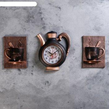 Часы настенные, серия: кухня, сангино, черная медь, 26.5х24 см