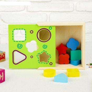 Сортер ящик с фигурами, 8 деталей: 4 x 4 см